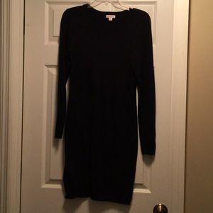 Women's black sweater knit dress